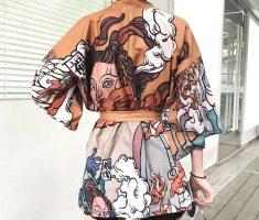 Felpa kimono multicolore