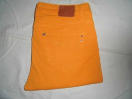 Stretch Trousers neon orange cotton