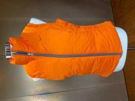 Orangefarbene Nike Wende-Steppweste, mollig warm und top aktuell