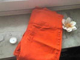 Orangene High-Waist-Jeans von Pieces zu Verkaufen:-)-Preis VB