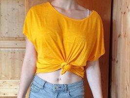 orangenes Oversized Shirt