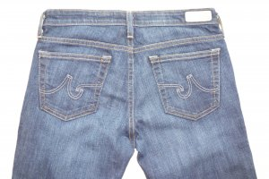 Adriano Goldschmied Jeans slim bleu foncé coton