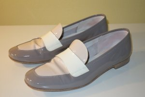 AGL Slip-on Shoes grey brown-cream leather