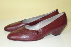 Org. AIGNER vintage Pumps in bordeaux Gr.38,5 wie neu