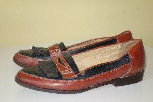 Org. AIGNER vintage Tassle Loafer aus Leder Gr.38