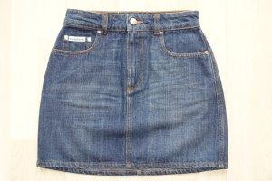 Alexa Chung Jupe en jeans bleu foncé coton