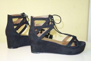 Aquazzura Sandales à talons hauts et plateforme noir cuir