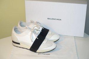 Org. BALENCIAGA Race Runner Sneaker in offwhite/schwarz Gr.38 inkl. Karton+Dustbag