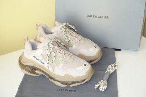 Org. BALENCIAGA Triple S Sneaker Clear Sole in nude/beige Gr.40 inkl. Karton+Dustbag