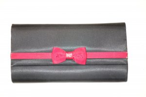 Balenciaga Borsa clutch nero-rosso