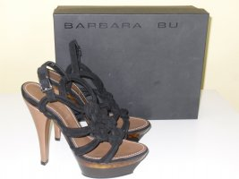 Barbara Bui Platform High-Heeled Sandal black-light brown leather