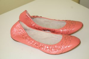 Bloch Patent Leather Ballerinas apricot-salmon leather