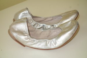 Bloch Foldable Ballet Flats silver-colored leather