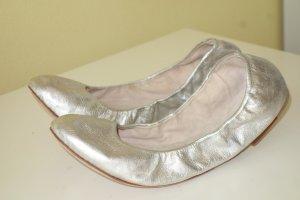 Org. BLOCH Ballerinas aus Leder in silber metallic Gr.41 neuwertig