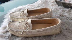 Bogner Ballerina's met kant licht beige