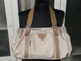 Org. BOGNER Tasche aus Nylon/Leder in beige wie neu