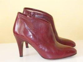Org. BRUNO MAGLI vintage Stiefeletten Leder bordeaux Gr.38,5
