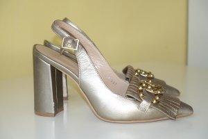 Bruno Premi Slingback Pumps gold-colored leather