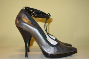 Org. BY MALENE BIRGER Runway Plateau Pumps spitz metallic Gr.40
