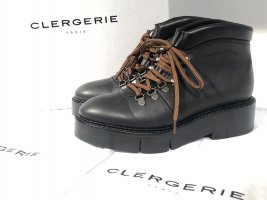 Org. CLERGERIE Celina Plateau Schnür-Boots aus Leder 36,5 Neu+Karton