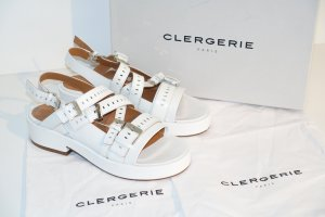 Robert clergerie Roman Sandals white leather