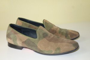 Org. COMMUNICATION LOVE Mokassins aus Leder mit Camouflage Muster Gr.39