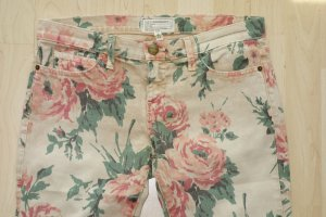 "Org. CURRENT ELLIOTT ""The Stiletto"" skinny Jeans mit Blumen-Print Gr.28"