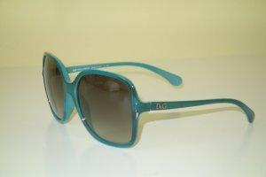 Org. D&G Dolce & Gabbana oversized Sonnenbrille in petrol