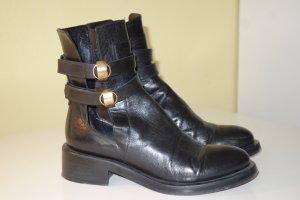 Org. DOROTHEE SCHUMACHER cut out Boots aus Leder in schwarz Gr.38