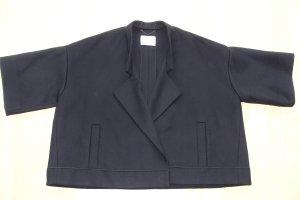 Org. DOROTHEE SCHUMACHER oversized doubleface Cape Jacke aus Wolle in dunkelblau Gr.36-42