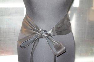Cinturón de lona negro Cuero