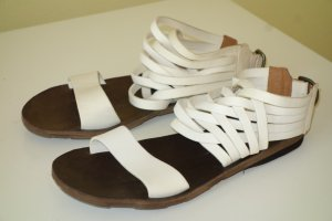 Fiorentini & baker Roman Sandals natural white-dark brown leather