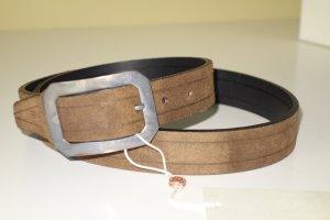Golden Goose Leather Belt grey brown leather