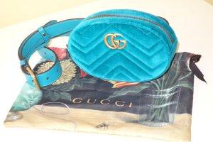 Org. GUCCI GG Marmont velvet belt bag in türkis wie NEU inkl. Dustbag + Zubehör