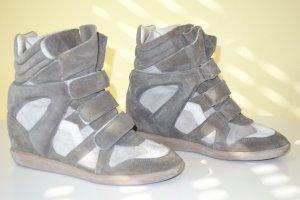 Org. ISABEL MARANT Wedge Sneaker Bekett taupe/hellgrau Gr.40