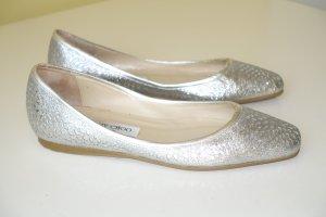 Jimmy Choo Classic Ballet Flats light grey leather