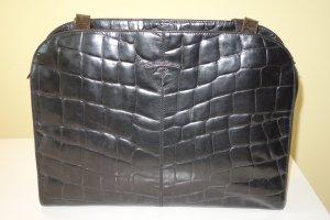 Org. JOOP vintage Schultertasche aus geprägtem Leder schwarz top