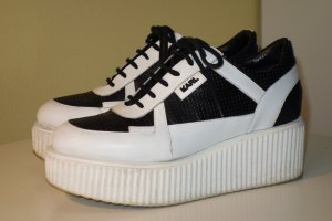 Org. KARL LAGERFELD Plateau  Sneaker Leder Gr.40
