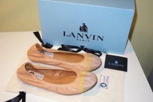 Org. LANVIN Ballerinas in nude Gr. 37 NEU+Karton
