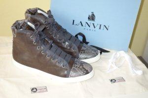 Org. LANVIN Hightop-Sneaker mit Pythonleder Gr.40 NEU+Karton