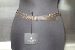 Lanvin Leather Belt green grey leather