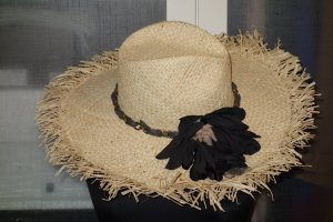 Lanvin Straw Hat sand brown