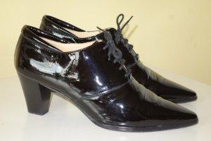 Org. LLOYD Schnür-Ankle Boots aus Lackleder Gr.39
