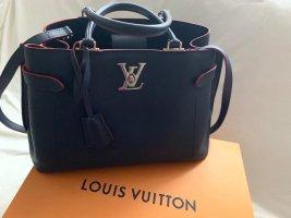 Louis Vuitton Handbag dark blue-red leather