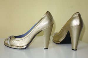 Org. MARC by MARC JACOBS Plateau Peeptoe Pumps in gold Gr.39