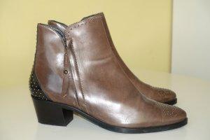 Org. MARIPE Ankle Boots/Stiefeletten aus Leder in dunkelbraun Gr.41