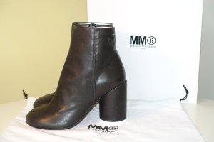 Org. MM6 Maison Margiela Stiefeletten aus Leder in schwarz Klassiker NEU+Karton