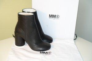 Org. MM6 Maison Margiela Stiefeletten mit Blockabsätzen in schwarz aus Leder Gr.40 NEU