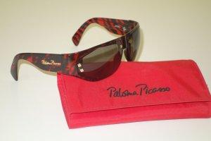 """Org. PALOMA PICASSO vintage Sonnenbrille """"Vienna-Line"""" mit Muster rot/schwarz"""