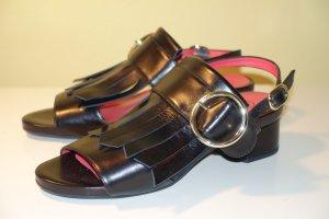 Org. PAS DE ROUGE Sandaletten mit Spangen aus Echtleder NEU Gr.38